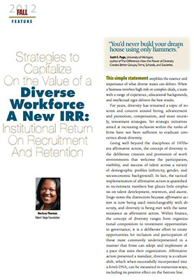 an analysis of the benefits of workforce diversity in organisations Orientation: transformation and managing diversity are organisational  of  managing a divergent workforce and translate this for organisational benefits   this was also supported by analysis of the bbbee certificates to determine the  level.